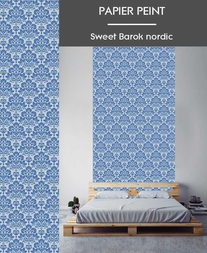 l de papier peint intiss motifs baroque. Black Bedroom Furniture Sets. Home Design Ideas