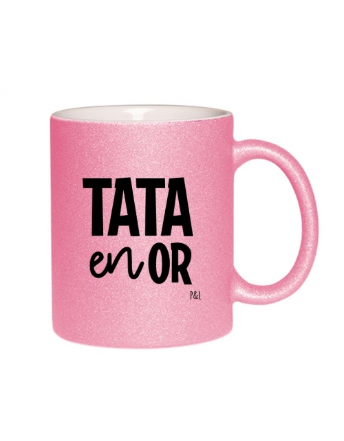 Mug Paillette Tata en Or