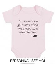 Body Bébé Tonton Apéro à personnaliser avec le nom de bébé