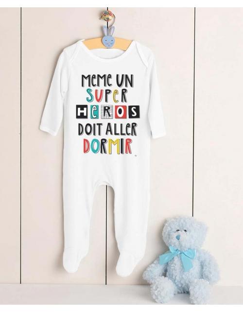 Pyjama Super Héros au dodo