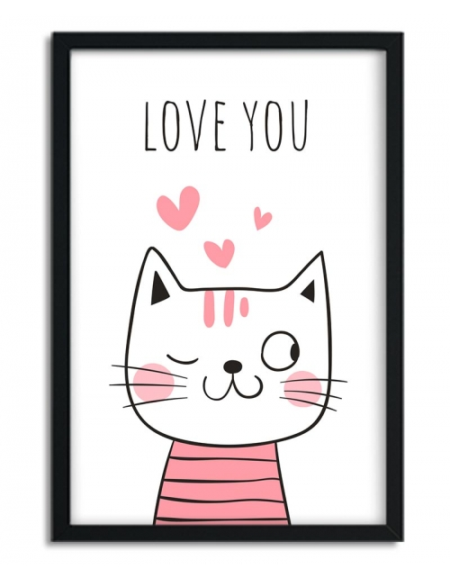 Affiche Chat Love You