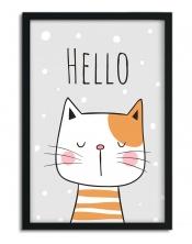 Affiche Chat Hello