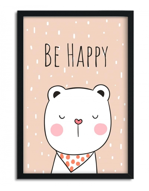 Affiche Ours Be Happy