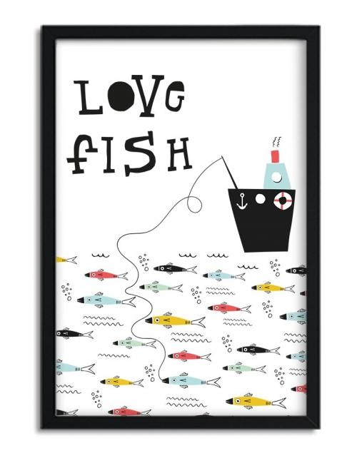 Affiche Love Fish