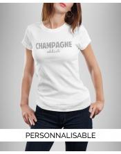 T-shirt Champagne Paillettes