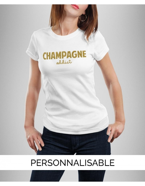 T-shirt Champagne Paillettes OR