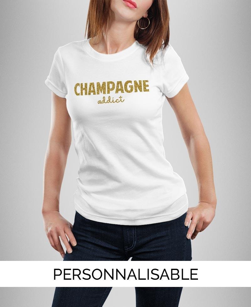 T-shirt Champagne Paillettes OR