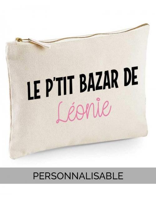 Pochette le P'tit Bazar de (votre phrase)