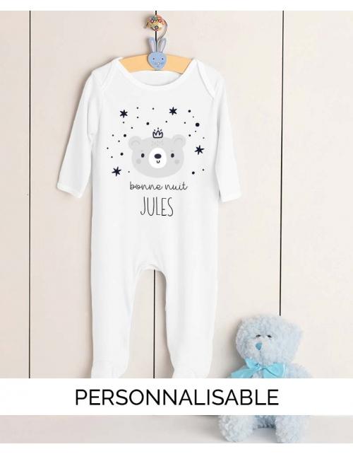 Pyjama Bébé Bonne Nuit Personnalisable