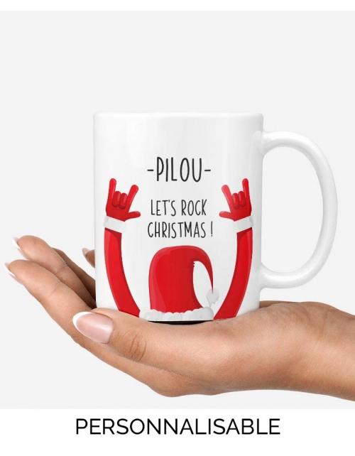Mug Rock Pere Noel Personnalisable