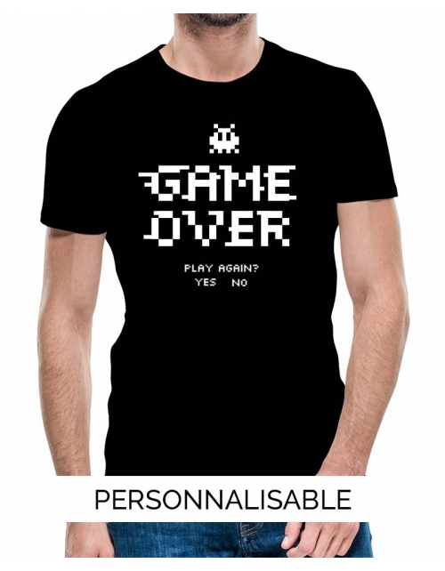 T-shirt Game Over personnalisable
