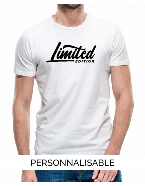 T-shirt Limited Edition personnalisable