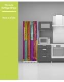 Sticker pour frigo - Bois Coloré