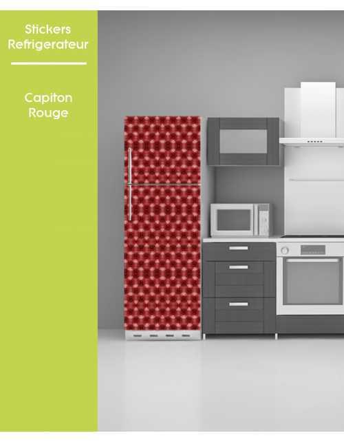Sticker pour frigo - Capiton Rouge