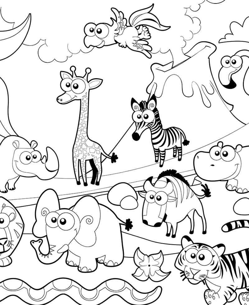 Poster géant à colorier animaux de la ferme, coloriage