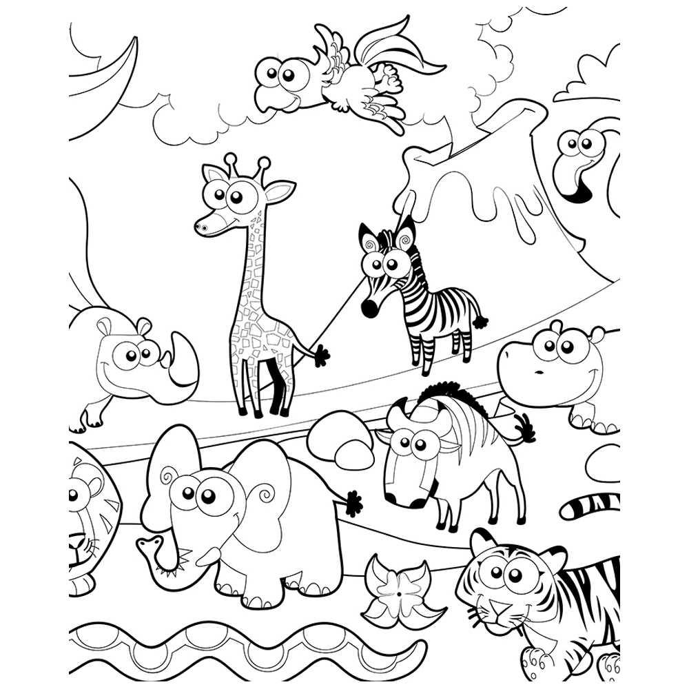 Poster Geant A Colorier Animaux De La Ferme Coloriage