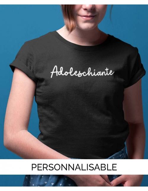 T-shirt Adoleschiante Personnalisable