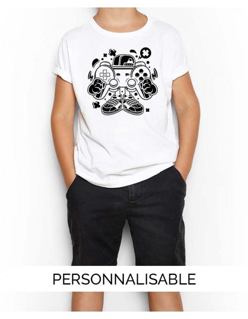 T-shirt Gamer Cartoon Personnalisable