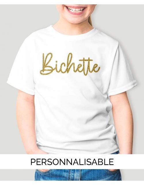 T-shirt Enfant Bichette personnalisable