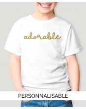T-shirt Fille Adorable - Personnalisable