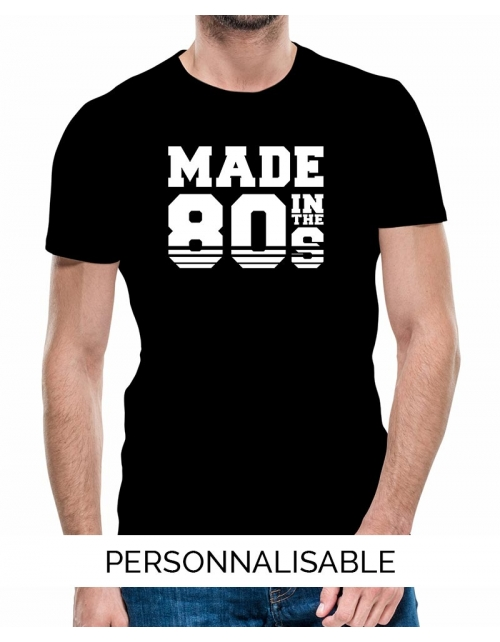 T-shirt personnalisé année