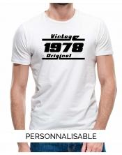 T-shirt personnalisé vintage année de naissance