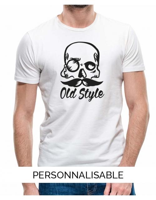 T-shirt tete de mort personnalisable