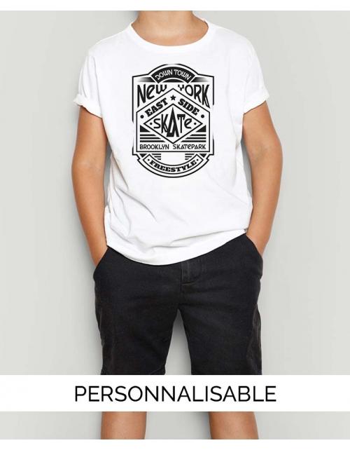 T-shirt New York Skate