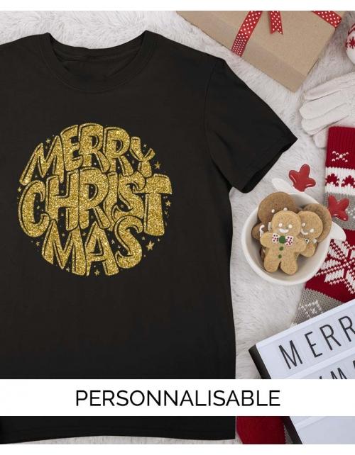 T-Shirt à paillettes Merry Christmas