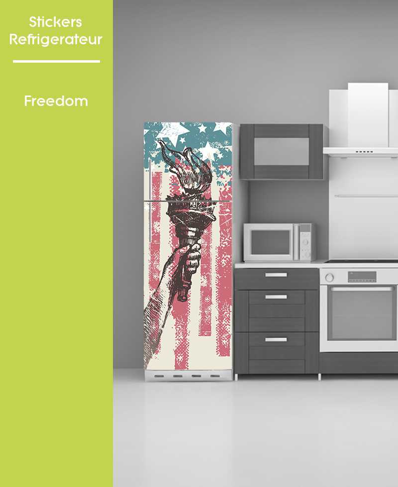 Sticker pour frigo - Freedom USA