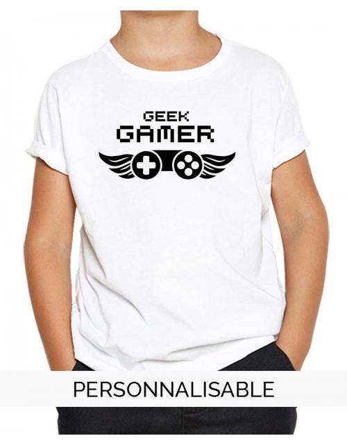 T-shirt enfant Geek Gamer