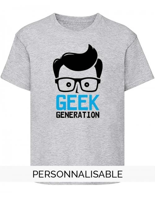 t-shirt enfant geek generation pilou et lilou
