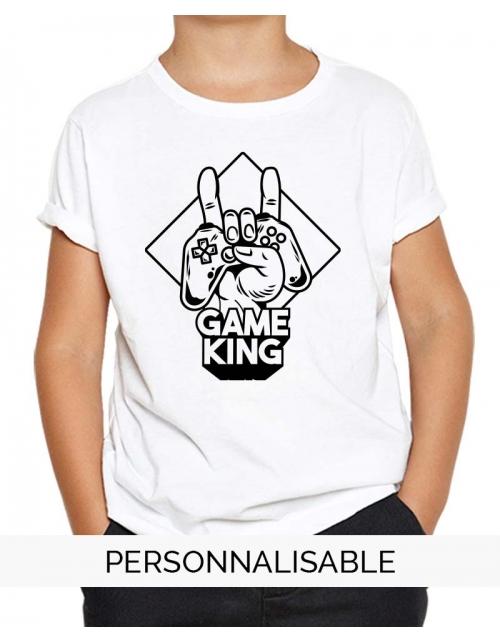 t-shirt enfant game king pilou et lilou