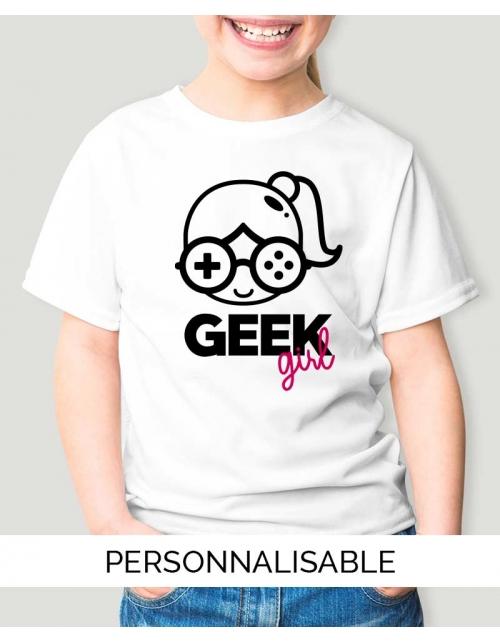 T-shirt enfant Geek Girl