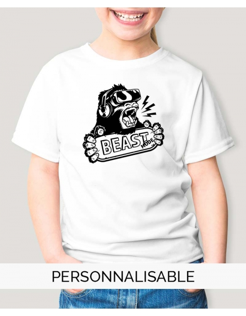 t-shirt enfant beast mode geek pilou et lilou