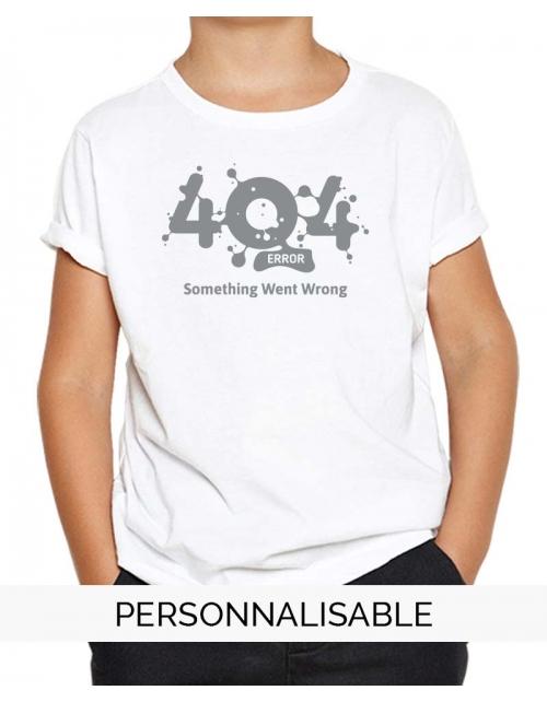 T-shirt enfant Erreur 404