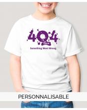 t-shirt fille erreur 404 pilou et lilou