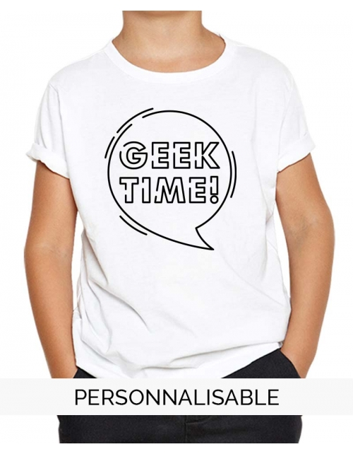 t-shirt enfant geek time