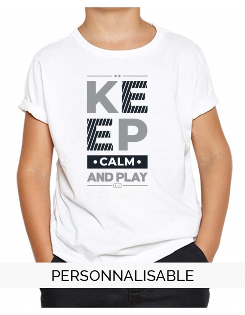 t-shirt enfant keep calm and play pilou et lilou