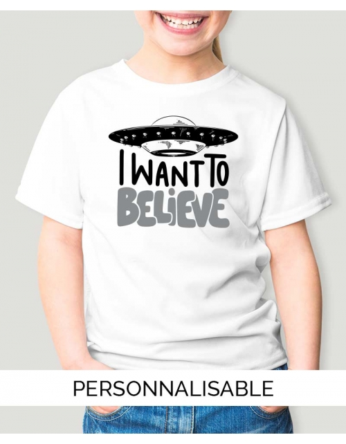 T-shirt enfant i want to believe pilou et lilou