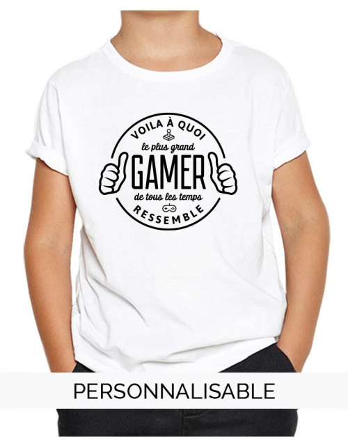 T-shirt enfant Le plus grand gamer