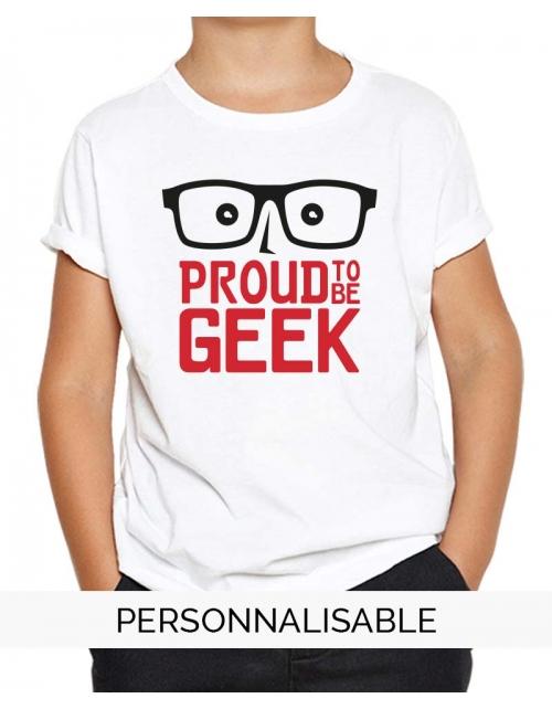 Tshirt enfant Proud to be geek pilou et lilou