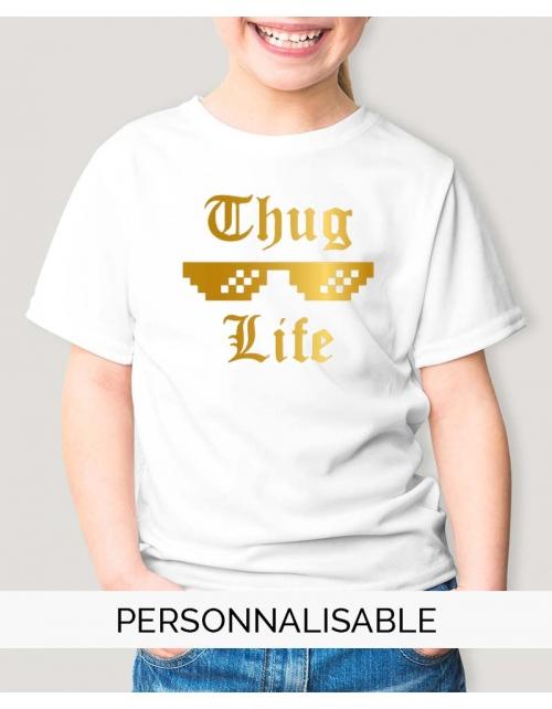 T-shirt enfant thug life pilou et lilou