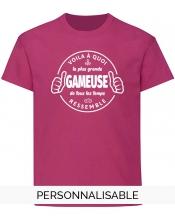 t-shirt fille gameuse pilou et lilou