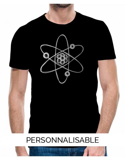 t-shirt homme atome collection geek pilou et lilou