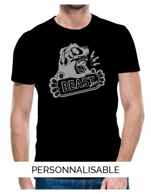 T-shirt homme Beast mode geek pilou et lilou
