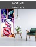 Papier Peint New York Signs