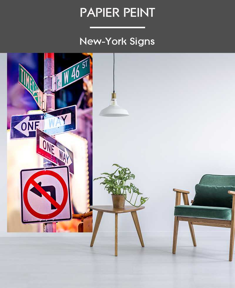 Papier Peint New York Signs