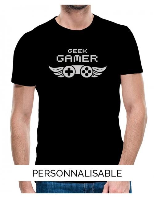 T-shirt homme geek gamer pilou et lilou