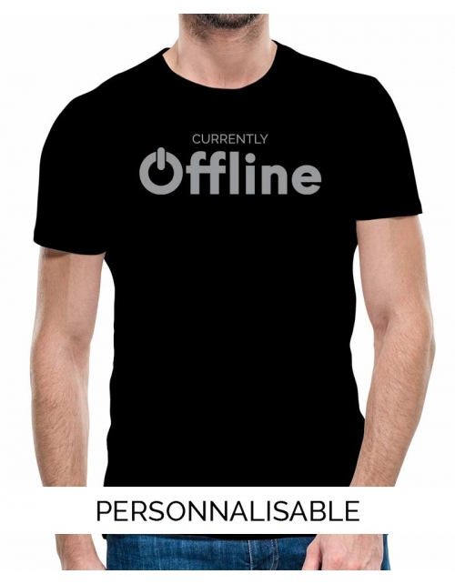 t-shirt homme offline geek pilou et lilou